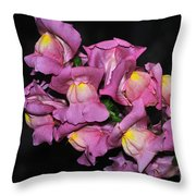 Pink Snapdragons 2 Throw Pillow