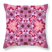 Pink Splash Mandala Abstract Throw Pillow