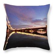 Pink Sunset  Throw Pillow