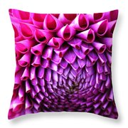 Pink To Purple Dahlia Throw Pillow