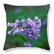 Pink Virginia Bluebells 1c Throw Pillow