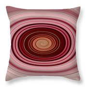 Pink Vortex Throw Pillow