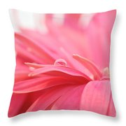 Pink Water Drop Throw Pillow by Kim Fearheiley