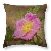 Pink Wild Rose Throw Pillow