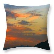 Pinnacle Peak Sunset Throw Pillow