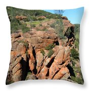 Pinnacles Outcropping Photograph Throw Pillow