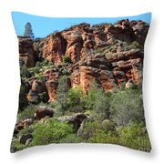 Pinnacles Rock Face Photograph Throw Pillow