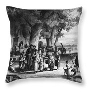 Pioneer Camp Throw Pillow