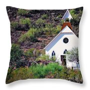 Pioneer Church Throw Pillow