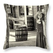 Pioneer Lady Throw Pillow
