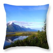 Pioneer Peak Throw Pillow