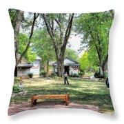 Pioneer Village Throw Pillow