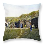 Pioneers Sod House, 1887 Throw Pillow