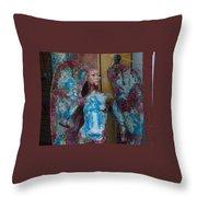 Pious Angel Detail Throw Pillow