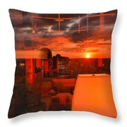 Pipestem Sunset Throw Pillow