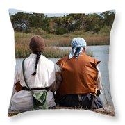 Pirate Couple Throw Pillow