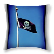 Pirate Flag Throw Pillow