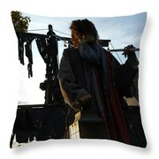 Pirate Guide Throw Pillow