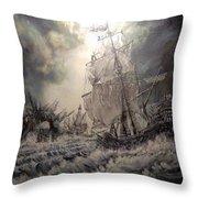 Pirate Islands 1 Throw Pillow