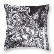 Pirate Monkey Squid Clam Throw Pillow