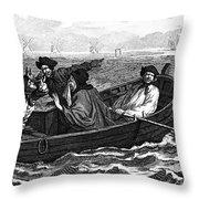 Pirates, 18th Century Throw Pillow