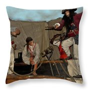 Pirates Of Peril Throw Pillow by DigiArt Diaries by Vicky B Fuller