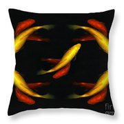 Pisces Times Five Throw Pillow