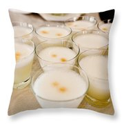 Pisco Sours Are Served By Peru Rail Throw Pillow