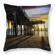 Pismo Beach Pier IIi Throw Pillow