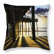 Pismo Pier Sunset II Throw Pillow