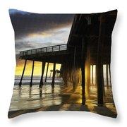 Pismo Pier Sunset IIi Throw Pillow