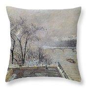 Pissarro: Louvre, 1902 Throw Pillow