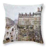 Pissarro: Theatre Francais Throw Pillow
