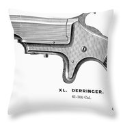 Pistol, 19th Century Throw Pillow by Granger
