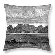 Pitcairn Island, 1879 Throw Pillow