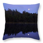 Pitkajarvi Nightscape Throw Pillow