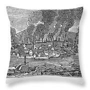 Pittsburgh, 1836 Throw Pillow