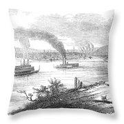 Pittsburgh, 1853 Throw Pillow