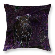 Pitty In Purple  Throw Pillow by Travis Crockart