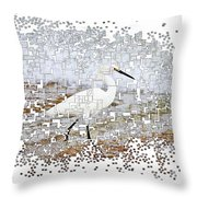 Pixel Cowbird Throw Pillow