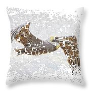 Pixel Pelicano Throw Pillow