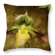 Pixie Orchid Throw Pillow