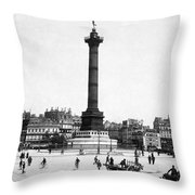 Place De La Bastille Throw Pillow