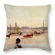 Place De La Concorde - Paris  Throw Pillow