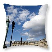 Place Vendome. Paris. France. Throw Pillow