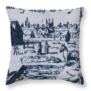 Plague, 1665 Throw Pillow
