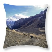 Plain Of Six Glaciers Trail - Lake Louise Canada Throw Pillow