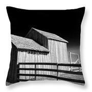 Plains Frontier Farm And Windmill Throw Pillow