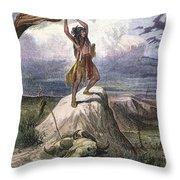 Plains Native American: Signal, 1873 Throw Pillow
