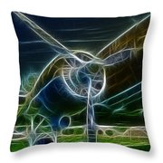 Plane Engine And Prop Throw Pillow